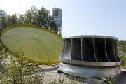 L'ancienne roue d'eau d'un poids de 42000 livres... (Photo Le Quotidien, Jeannot Lévesque) - image 2.0