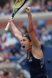 La réaction de la gagnante, Anastasija Sevastova.... (Photo Eduardo MUNOZ ALVAREZ, AFP) - image 1.0
