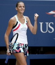 Karolina Pliskova s'est qualifiée pour les quarts de... (AP, Peter Morgan) - image 3.0