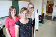 Louise Deschênes, Isabelle Vézina, à l'avant, et Vanessa... (photos Janick marois) - image 2.0