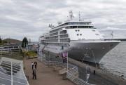 Le navire Silver Whisper a fait escale samedi... (Olivier Croteau) - image 4.0