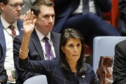 L'ambassadrice américaine à l'ONU, Nikki Haley, lors du... (AFP) - image 2.0