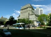 Une maquette de tramway à Montréal.... (photomontage) - image 2.0