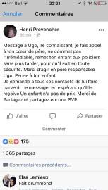 Le message d'Henri Provencher publié sur Facebook... (Capture d'écran) - image 1.0