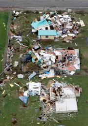 Maisons ravagées à Sainte-Croix, dans les Îles Vierges... (REUTERS) - image 3.0