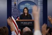 La porte-parole de la Maison-Blanche,Sarah Huckabee-Sanders, lors d'un... (AP) - image 3.0