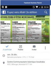 La conférence«Fuyez versAllah!» a eu lieu en2014 auCentreislamique... (Image tirée de Facebook) - image 1.0