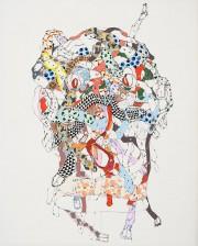 Colossal Head III, 2006, François Morelli, encre sur... (Photo Guy L'Heureux, fournie par le 1700 La Poste) - image 3.0