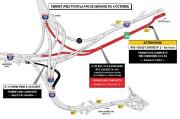 La route136 (autoroute720 Ville-Marie Est) sera complètement fermée... (IMAGE FOURNIE PAR LE MINISTÈRE DESTransports, de la Mobilité durable et de l'Électrification des transports) - image 1.1