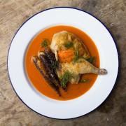 Le demi-poulet de Cornouailles est impeccable. Il fond... (PHOTO ÉDOUARD PLANTE-FRÉCHETTE, LA PRESSE) - image 2.0