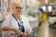Auriette Breton, infirmière-chef du département d'hépatologie, travaille à... (PHOTO DAVID BOILY, LA PRESSE) - image 1.0