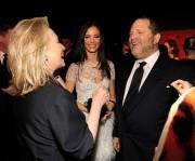 Hillary Clinton,Georgina Chapman et Harvey Weinstein lors d'une... (AFP) - image 4.0