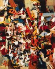 La ville, 1949, Jean-Paul Riopelle, huile sur toile,... (Photo Christine Guest,fournie par le MNBAQ) - image 3.0