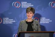 La ministre canadienne du Développement international et de... (Photo Martin Chamberland, La Presse) - image 1.0