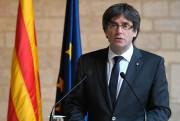 Le président déchu de la Catalogne, Carles Puigdemont... (PHOTO LLUIS GENE, AFP) - image 1.0