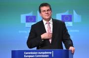 Le commissaire à l'UÉ, Maros Sefcovic, s'adresse aux... - image 3.0