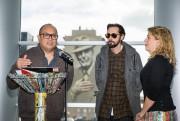 De gauche à droite, le muraliste montréalais Gene... (Photo Hugo-Sébastien Aubert, La Presse) - image 2.0