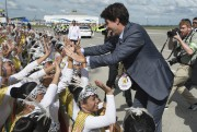 Justin Trudeau à son arrivée auxPhilippines.... (PHOTO ADRIAN WYLD, LA PRESSE CANADIENNE) - image 1.0