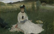 Berthe Morisot, L'Ombrelle verte, 1873. Huile sur toile,... (Photo fournie par le MNBAQ) - image 3.0