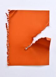 Orange déchiré, 2017, Sébastien Gaudette,techniques mixtes sur aluminium... (Photo fournie par la galerie salon b-espace culturel) - image 1.1
