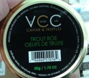 Oeufs de truite de marque VIP Caviar Club,... (Photo ACIA) - image 1.1