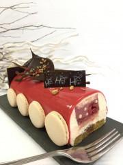 La bûche framboise-vanille de Gourmet Privilège.... (Photo fournie par la pâtisserie) - image 2.0
