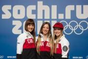 Maxime, Chloé et Justine Dufour-Lapointe à Sotchi... (PhotoPaul Chiasson, archives La Presse canadienne) - image 2.0