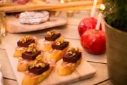Descrostinis au boudin, coppa et noix caramélisées, préparés... (Photo Olivier PontBriand, La Presse) - image 1.1