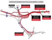 La carte des entraves dans le secteur de... (CARTE FOURNIE PAR LE MINISTÈRE DES TRANSPORTS) - image 1.0