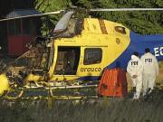 Un hélicoptère d'une compagnie forestière a été détruit... (PHOTO Manuel Araneda, AP) - image 1.0