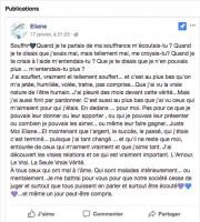 Message publié sur la page Facebookd'Éliane Gamache Latourelle... (Image tirée de la page Facebook d'Éliane Gamache Latourelle) - image 3.0