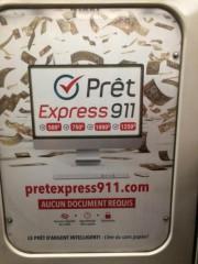 Une publicité de Prêt Express 911 dans l'un... (Photo fournie par l'Association coopérative d'économie familiale de l'Est de Montréal) - image 1.0