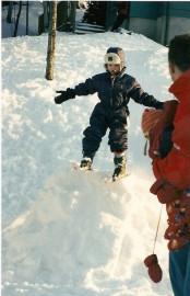 Un premier saut pour Mikaël, 4 ans?... (Photo tirée de Facebook) - image 1.0