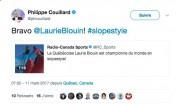 Le premier ministre Philippe Couillard a félicité Laurie... (Image tirée de Twitter) - image 2.0