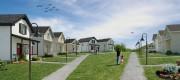 Le Petit Quartier, à Sherbrooke, rassemblera 73 minimaisons... (ILLUSTRATION FOURNIE PAR LA FÉDÉRATION DES COOPÉRATIVES D'HABITATION DE L'ESTRIE) - image 1.1