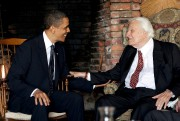 Barack Obama et Billy Graham en avril 2010.... (REUTERS) - image 2.0