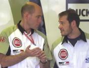 Jock Clear et Jacques Villeneuve, en 2002... (Photo Bernard Brault, archives La Presse) - image 1.0