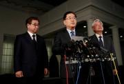 L'envoyé sud-coréen Chung Eui-yong a fait cette étonnante... (Photo Leah Millis, REUTERS) - image 4.0