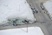 L'accident s'est produit à l'intersection de deux routes.... (photo Jonathan Hayward, LA PRESSE CANADIENNE) - image 1.0