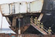 Des pompiers qui ont combattu les flammes mardi... (Photo Patrick Sanfaçon, La Presse) - image 1.0