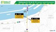 Entraves au pont Champlain... (Image tirée du site du ministère des Transports) - image 1.1