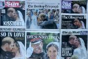 Le mariage princier se retrouvait à la une... (Photo Kirsty Wigglesworth, Associated Press) - image 1.0