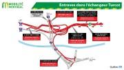 L'échangeur Turcot sera presque complètement fermé à la... (Image fournie par le ministère des Transports du Québec) - image 2.1