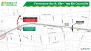 Fermeture du ch. Glen/rue De Courcelle... (Image fournie par le ministère des Transports du Québec) - image 3.0