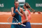Petra Kvitova et Anett Kontaveit... (Photo Pascal Rossignol, REUTERS) - image 2.0