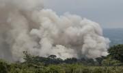 Une épaisse colonne de fumée se dégage de... (AFP) - image 3.0