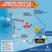 Fermeture de l'autoroute 10... (Photo fournie par Nouveau Pont Champlain) - image 1.0