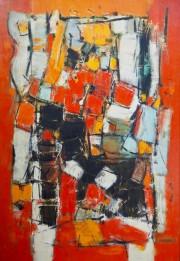 Fête, 1963, PierreGendron, huile sur toile de lin,114,3cm... (Photo RichardLegault, fournie par la Maison des arts de Laval) - image 1.0