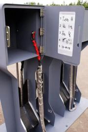 Les vélos sont sécurisés par une longue chaîne... (Photo fournie par Neuron3D) - image 1.1