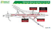 Entraves dans le secteur des autoroutes 10 et... (illustration fournie par le MTQ) - image 2.0